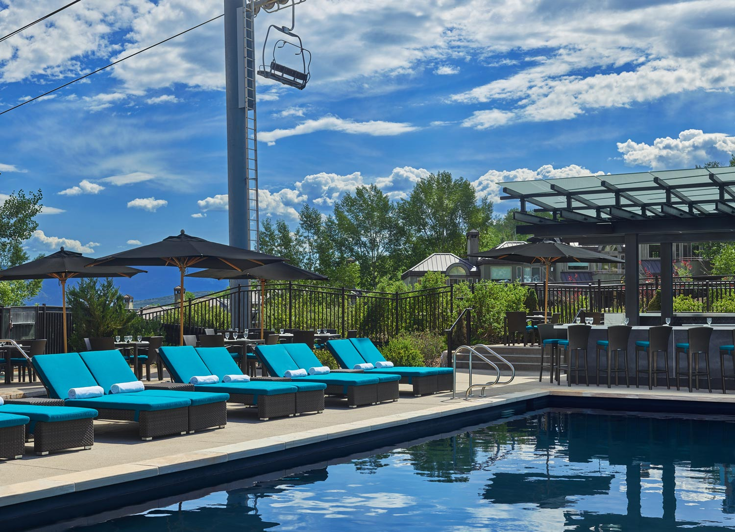 Viceroy pool in Snowmass Base Village