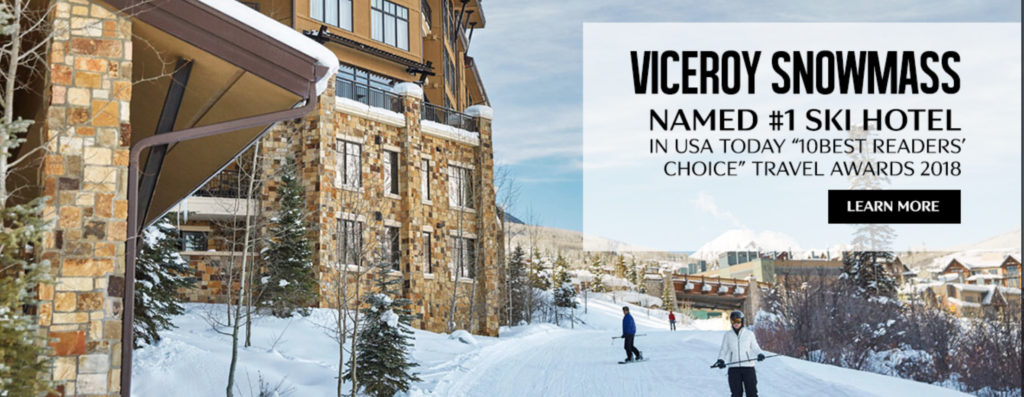 Viceroy Snowmass Named Best Ski Hotel by USA Today