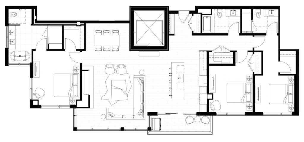 One Snowmass 502 West floor plan