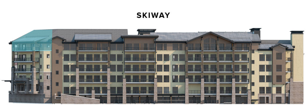 Limelight residence 517 skiway view rendering