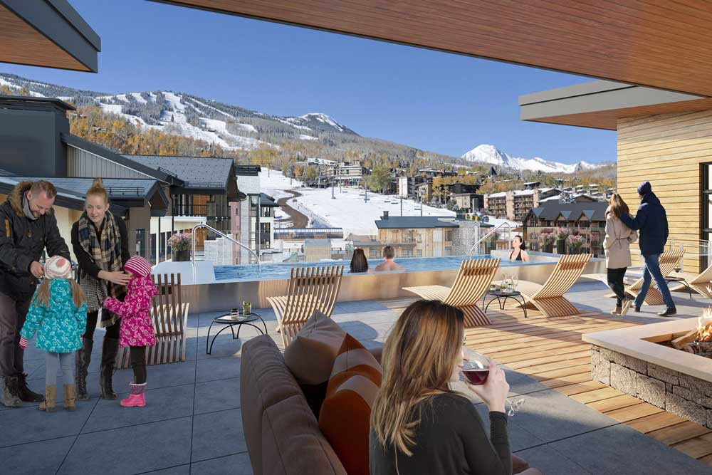 One Snowmass rooftop terrace