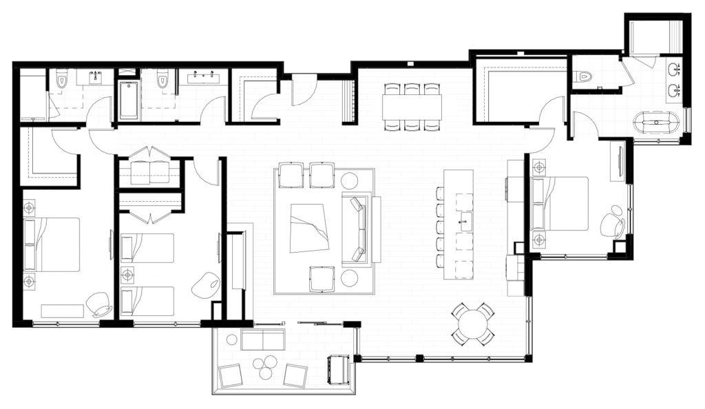 One Snowmass 501 West floor plan