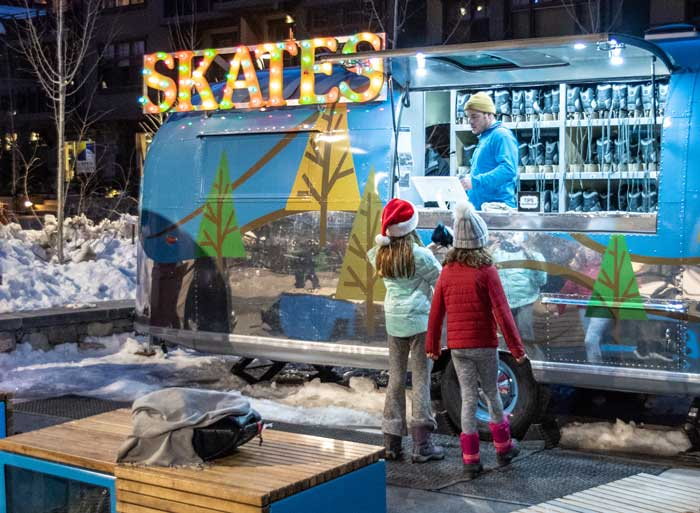 Free skate rentals at the SBV Airstream