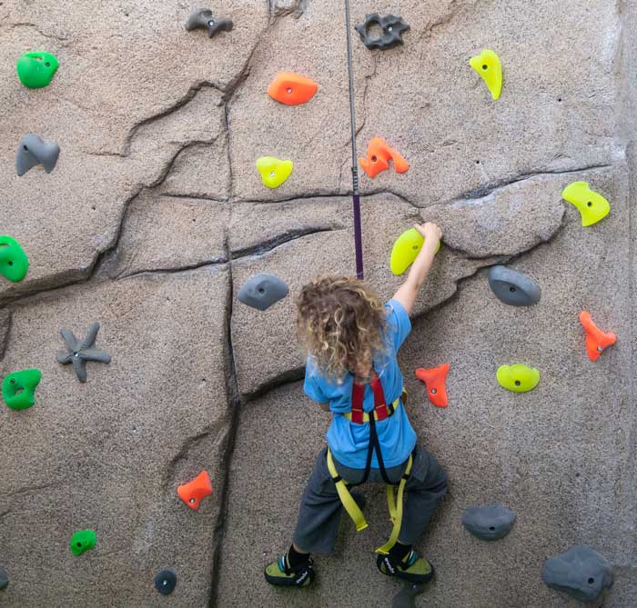Climbing wall at Limelight