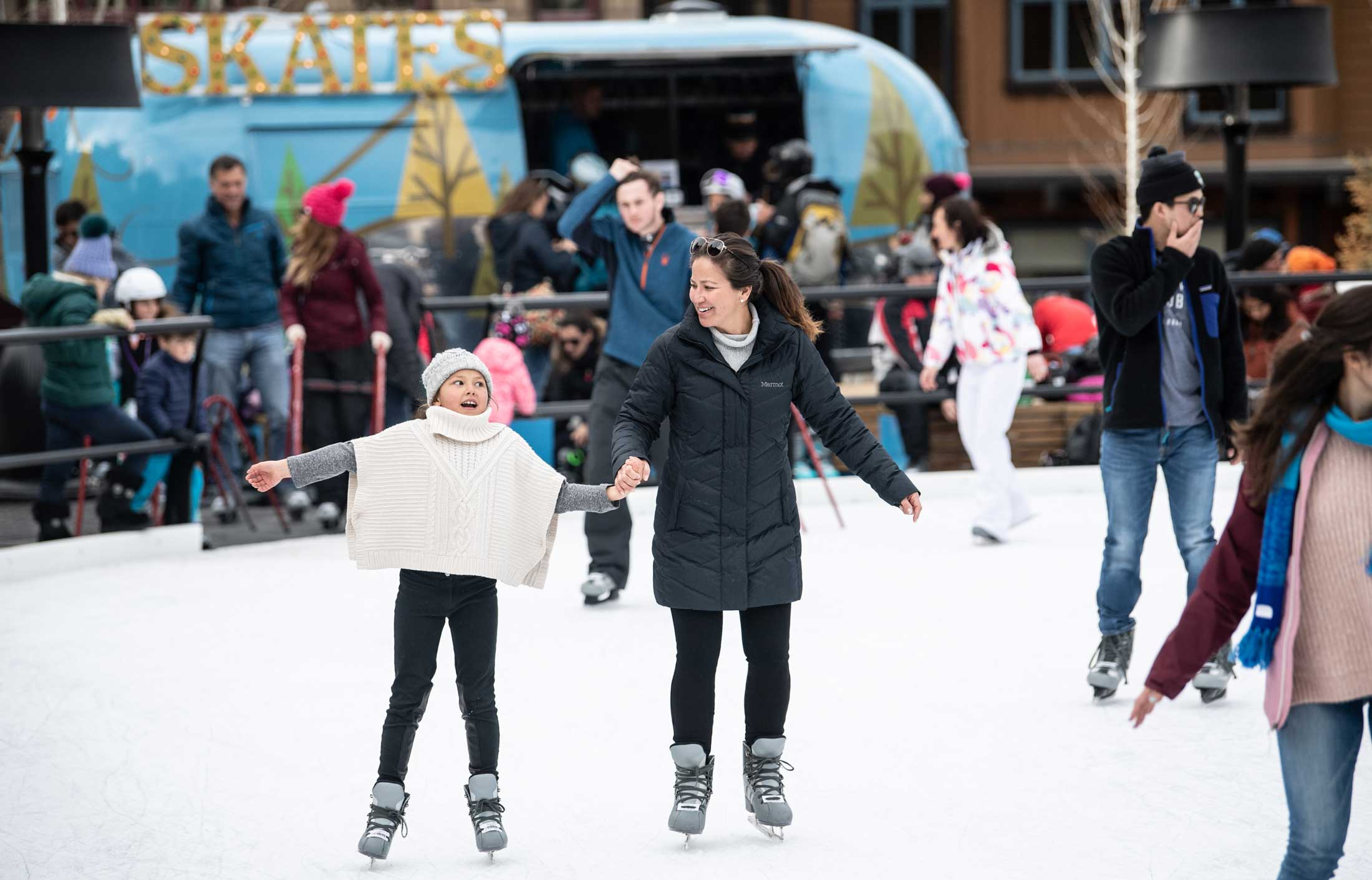 Outdoor skating in the heart of the Base Village