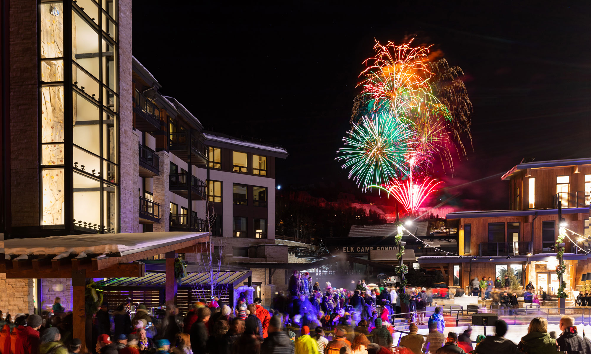Fireworks at Snowmass Base Village