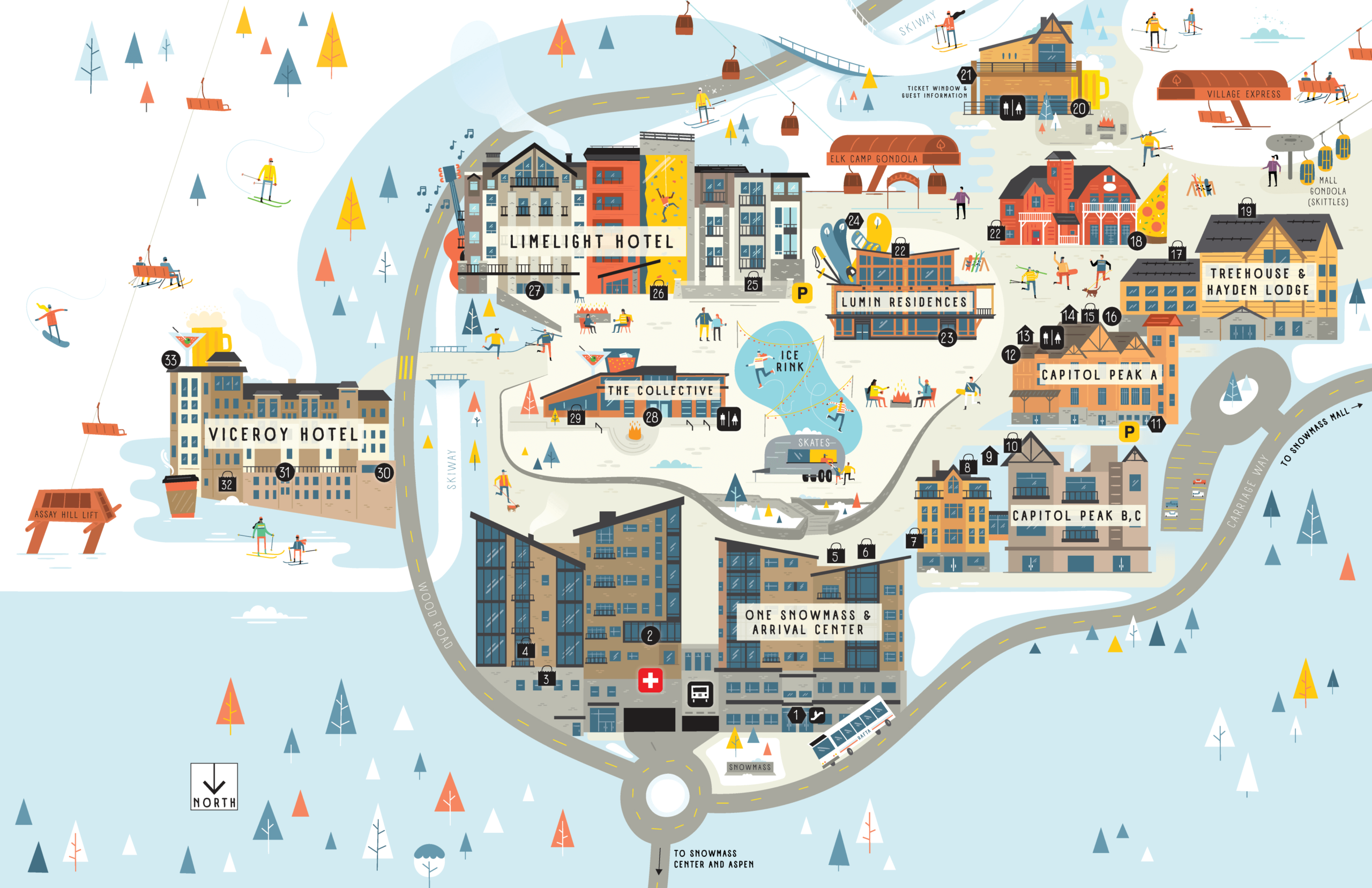Snowmass Base Village map