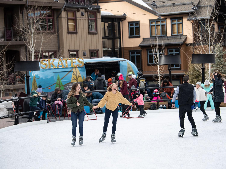 Ice skating at Snowmass Base Village