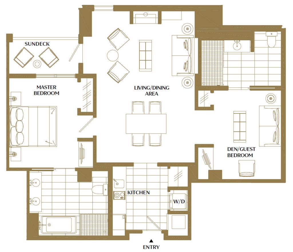 Viceroy residence 734 floorplan