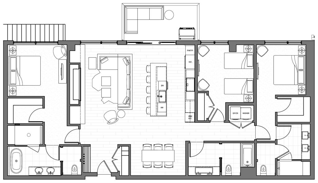 One Snowmass 503 East floorplan