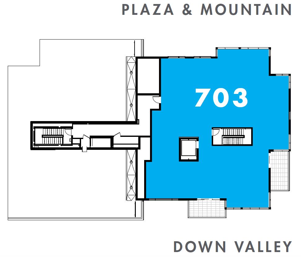 One Snowmass 703 West floorplate
