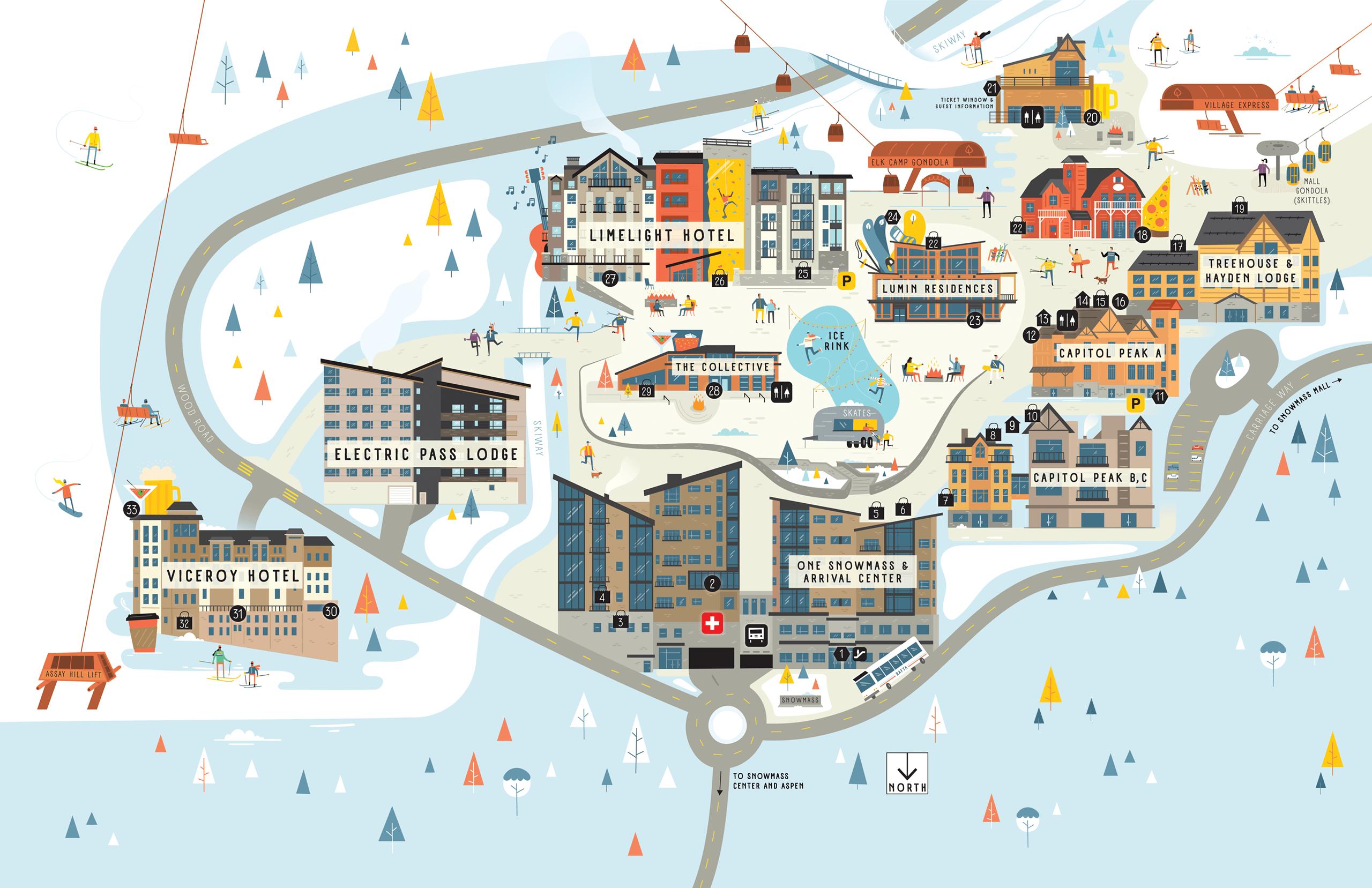 Snowmass Base Village Map